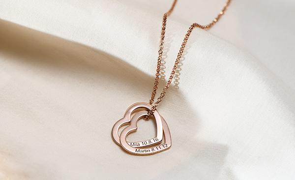 Love locked necklace