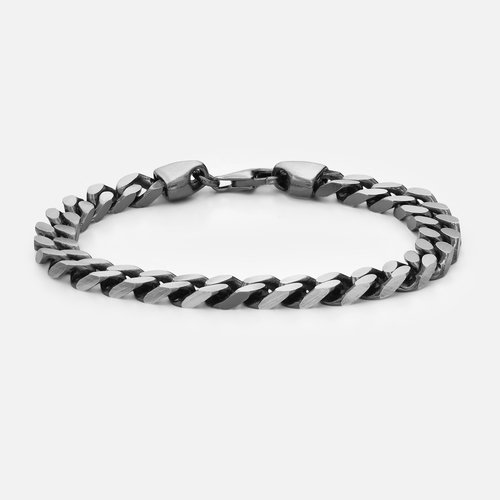 Curb Chain Bracelet - Sterling Silver