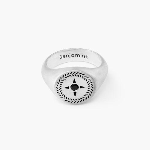Rambu Compass Signet Ring