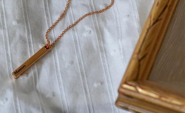Pillar Bar Necklace - Gold Plated