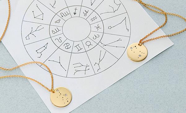 Aquarius and Capricorn necklaces